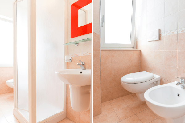 Bagno Camere comfort hotel a Pineto